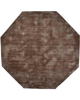 Orren Ellis Pressley Hand-Woven Wool Taupe Area Rug ORNL7093 Rug Size: Octagon 5' x 5'