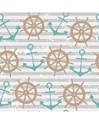 breakwater bay colm nautical removable peel and stick wallpaper panel w001837106 size 24 w x 126 l