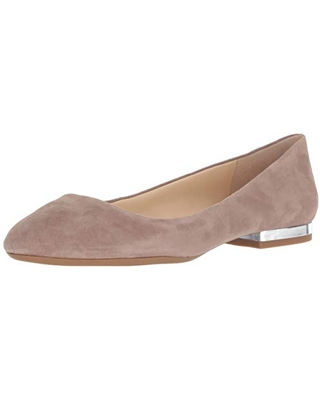 Jessica Simpson Women's Ginly Ballet Flat, Warm Taupe, 6.5 M US