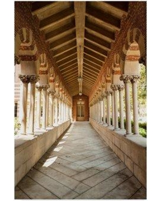 """Winston Porter 'Usc Hall Color' Photographic Print on Wrapped Canvas WNPO2657 Size: 32"""" H x 22"""" W x 2"""" D"""