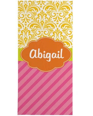 Personalized Multi-Print Beach Towel, Available in 3 Patterns