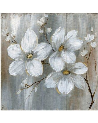 """Charlton Home® 'Summer in Neutral II' Oil Painting Print on Wrapped Canvas X111562168 Size: 16"""" H x 16"""" W x 1.5"""" D"""