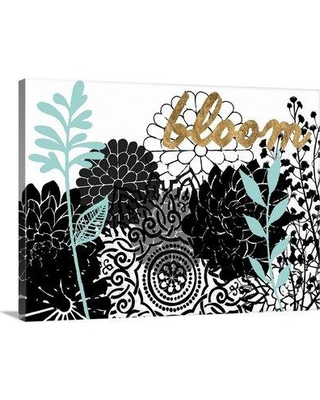 """Winston Porter Giclee 'Lacy Garden II' Graphic Art Print W001608943 Format: Wrapped Canvas Size: 35"""" H x 48"""" W x 1.5"""" D"""