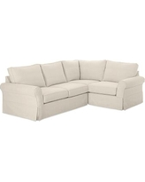 On Sale Now 20 Off Pb Comfort Roll Arm Slipcovered Left
