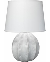 Jamie Young Urchin Coastal Matte White Ceramic Table Lamp