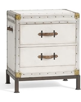 Ludlow Bedside Table, White