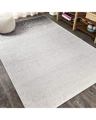 JONATHAN Y Shore Modern Gradient Gray/Cream 5 ft. x 8 ft. Area Rug, Vintage, Easy Cleaning, For Bedroom, Kitchen, Living Room, Non Shedding