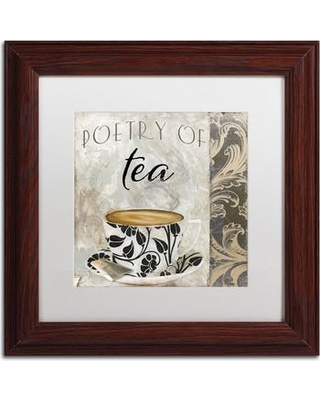 """Trademark Art 'Art of Tea II' by Color Bakery Framed Graphic Art ALI4074-W1 Size: 11"""" H x 11"""" W x 0.5"""" D Mat Color: White"""