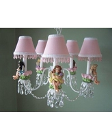 Silly Bear Lighting My Fairy Princess 5-Light Shaded Classic / Traditional Chandelier TC21-5A- Shade: Fairy Sparkle