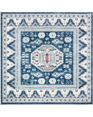 """Millwood Pines Sereno Blue/Creme Area Rug W001401798 Rug Size: Square 6'7"""""""