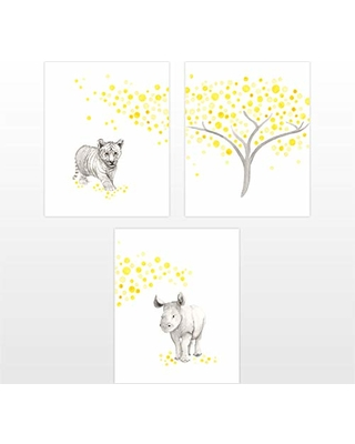 The Daisy Fields Jungle Animal Nursery Decor Kids Wall Art For Children S Room Baby Prints From Paing