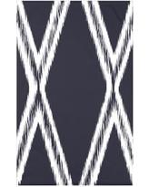 """e by design Gate Keeper Geometric Print Polyester Fleece Throw Blanket HGN216 Size: 60"""" L x 50"""" W x 0.5"""" D, Color: Navy Blue"""