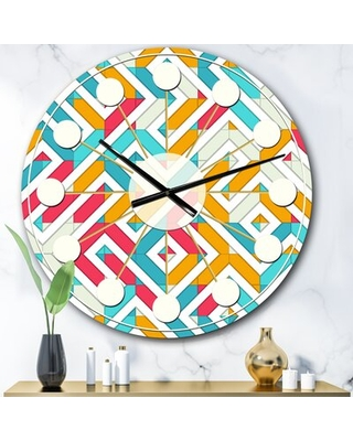 Oversized Abstract Geometry I Mid-Century Wall Clock East Urban Home Size: Large