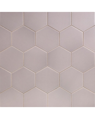 Ivy Hill Tile Bethlehem Hexagon Gray 5.9 in. x 6.96 in. x 8mm Matte Ceramic Wall Tile (38 pieces / 7.96 sq. ft. / box), Matte Gray