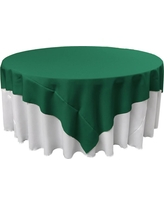 Teal (Blue) Polyester Poplin Square Tablecloth