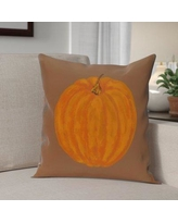 """The Holiday Aisle Lil' Pumpkin Holiday Print Throw Pillow HLDY6347 Size: 20"""" H x 20"""" W, Color: Brown"""
