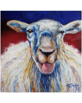 """Trademark Fine Art 'Oh Baa Ma' Acrylic Painting Print on Wrapped Canvas ALI34634-CGG Size: 24"""" H x 24"""" W x 2"""" D"""