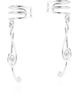Treble Clef Music Note Sterling Silver