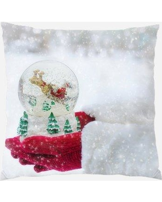 Remarkable Deals On The Holiday Aisle Indianola Snow Globe Indoor Outdoor Canvas Throw Pillow Polyester Polyfill In White Size 18x18 Wayfair