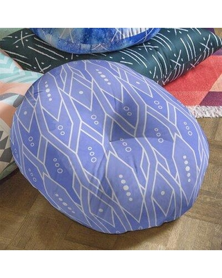 """East Urban Home Floor Pillow W001709360 Size: 26"""" x 26"""" Color: Blue"""