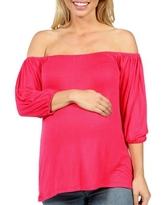 Sweetheart Off Shoulder Maternity Tunic Top