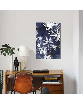 """East Urban Home 'Floral Gesture II' Print on Canvas EBHS9430 Size: 60"""" H x 40"""" W x 1.5"""" D"""