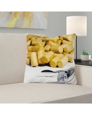 East Urban Home Corks Throw Pillow W000209551