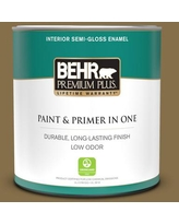 Sales On Behr Premium Plus 1 Gal 370f 7 Pinetop Eggshell Enamel Low Odor Interior Paint And Primer In One
