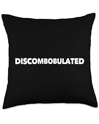 Mom Cuss Words Clothing Discombobulated Saying Word Confused Statement Funny Novelty Throw Pillow, 18x18, Multicolor