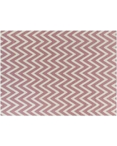 Exquisite Rugs Flat woven Wool Pink/White Area Rug WF3541 Rug Size: 5' x 8'