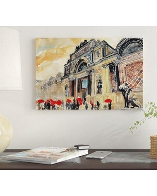 "East Urban Home 'Glyptotek' By Maja Wronska Graphic Art Print on Canvas EUME2129 Size: 18"" H x 26"" W x 0.75"" D"