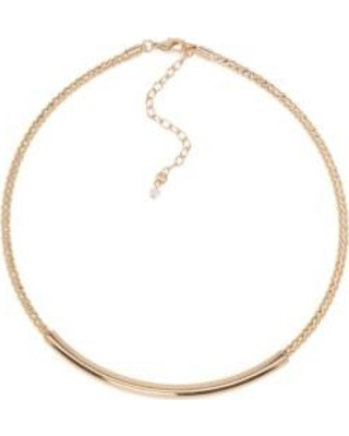 Napier Gold Gold-Tone Twisted Collar Necklace
