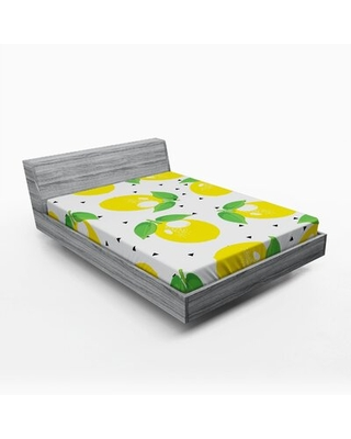 Lemons Fitted Sheet East Urban Home Size: Queen