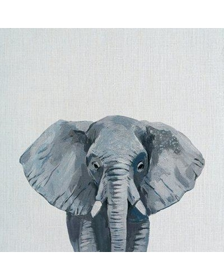 "Bloomsbury Market 'Gray Elephant' Print on Wrapped Canvas BI012601 Size: 24"" H x 24"" W x 1.5"" D"