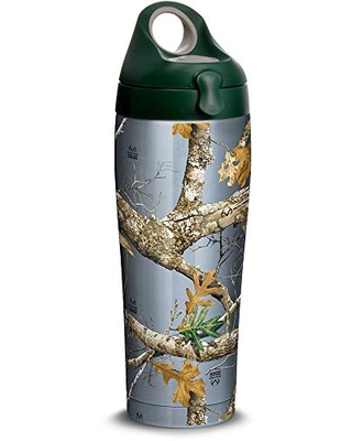 Tervis Realtree - Edge Stainless Steel Insulated Tumbler with Lid, 24 oz Water Bottle, Silver