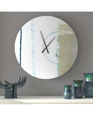 Amazing Deal On Latitude Run Whitling Wall Clock Metal In Beige Size Large Wayfair Cce6cff109c94535a55d0689d5c6d9f1