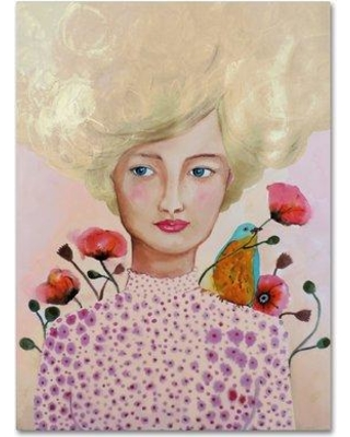 """Trademark Fine Art 'Camille' Print on Wrapped Canvas ALI15242-C Size: 47"""" H x 35"""" W"""