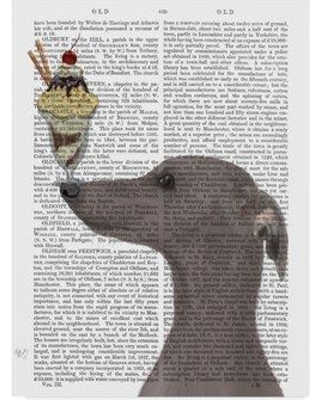 "Winston Porter 'Grayhound Gray Ice Cream Text' Graphic Art Print on Wrapped Canvas WNPO4007 Size: 24"" H x 18"" W x 2"" D"