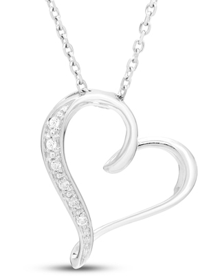 Jared The Galleria Of Jewelry Diamond Accent Necklace Round 10K White Gold