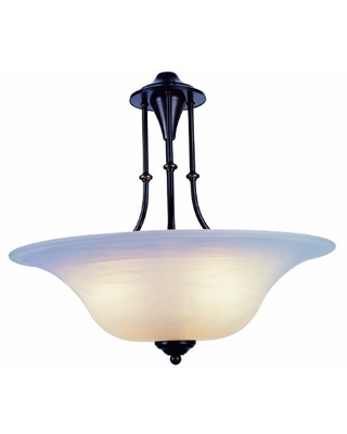 Trans Globe Imports 6543 WB Transitional Three Light Pendant from Perkins Collection in Bronze / Dark Finish, 20.00 inches