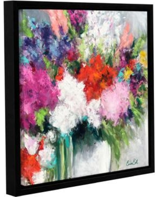 """House of Hampton Flower Market Frenzy Framed Painting Print on Wrapped Canvas HOHN9916 Size: 10"""" H x 10"""" W x 2"""" D"""