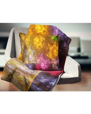 """East Urban Home Rotating Polyhedron Abstract Pillow VCBI4271 Size: 18"""" x 18"""" Product Type: Throw Pillow"""