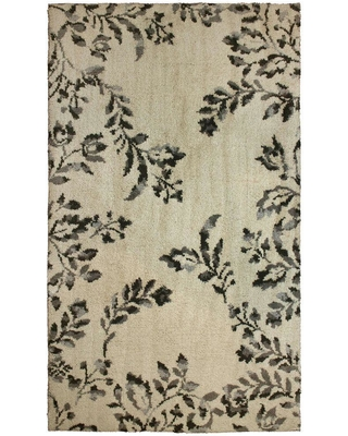 Laura Ashley Winchester Plush Knit Taupe 2 ft. x 4 ft. Area Rug, Brown