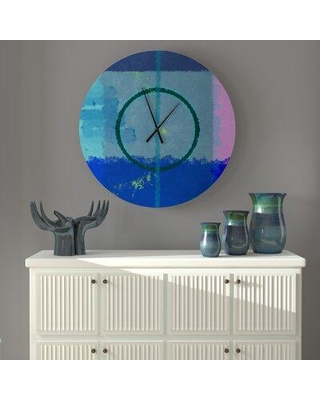 East Urban Home Oversized Bethany Wall Clock X113538172 Size: Small