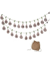 Midwest Seasons Cozy Comfort Countdown Advent Calendar Garland 115165