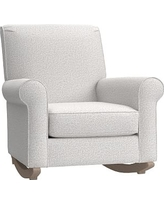 Charleston Convertible Rocker, Chenille Tweed (A) Light Gray, Driftwood
