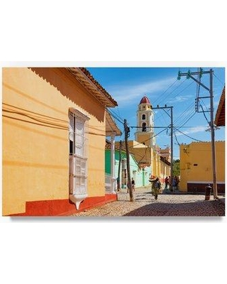 "Trademark Fine Art 'Colorful Architecture Trinidad III' Photographic Print on Wrapped Canvas PH00745-C Size: 30"" H x 47"" W"