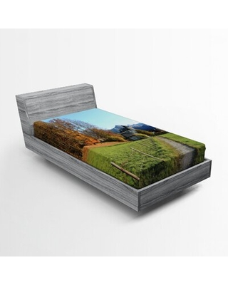 Landscape Fitted Sheet East Urban Home Size: Twin XL
