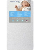 "Dream On Me Little Baby 6"" Crib and Toddler Mattress 6E6GL"