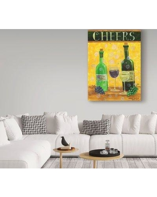 """Winston Porter 'Cheers With Wine' Acrylic Painting Print on Wrapped Canvas WNPO2418 Size: 19"""" H x 14"""" W x 2"""" D"""